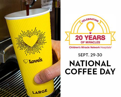 Love's on National Coffee Day