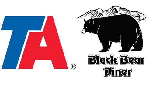 Logos for TravelCenters of America and Black Bear Diner