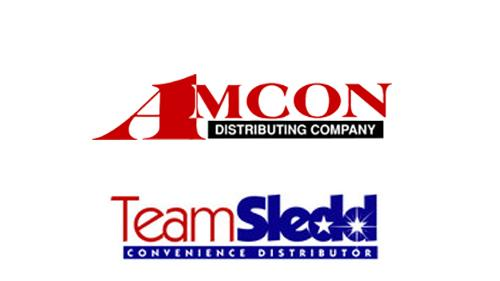 logos for AMCON & Team Sledd