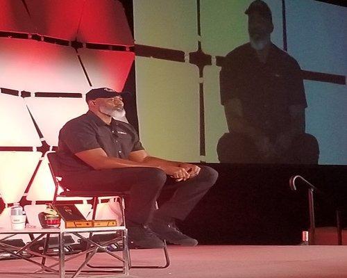 former NBA All-Star Karl Malone at TPE 2020