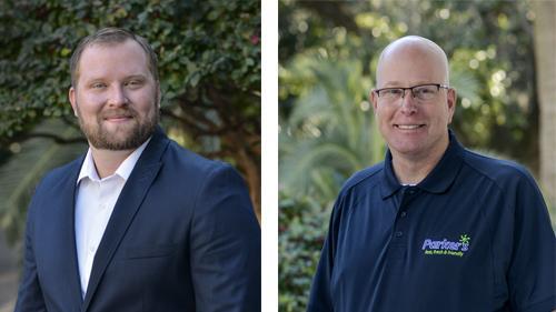 John Rhine (l) and Thomas C. Myrvold join Parker's.