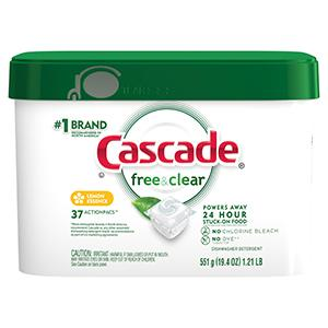 DISH CARE CASCADE FREE & CLEAR Procter & GambleDISH CARE CASCADE FREE & CLEAR Procter & Gamble