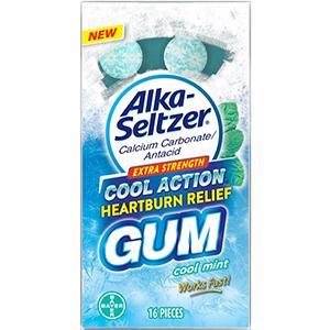 IMMEDIATE RELIEF ALKA SELTZER COOL ACTION HEARTBURN RELIEF GUM Bayer Consumer Health