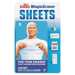 SURFACE WIPES MR. CLEAN MAGIC ERASER SHEETS Procter & GambleCrest