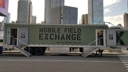 The Army & Air Force Exchange Service opens a mobile field exchange in NYC.