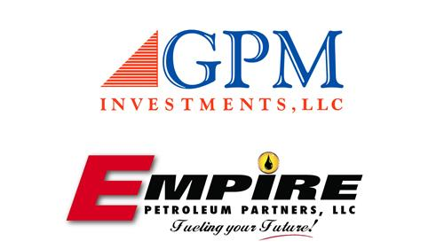 Logos for GPM Investments and Empire Petroleum Partners