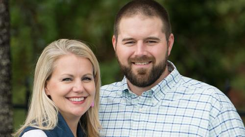 Trenton (right) and Julia Langston have been named vice presidents of Calloway Oil Co.