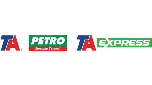 Logos for TravelCenters of America's brands