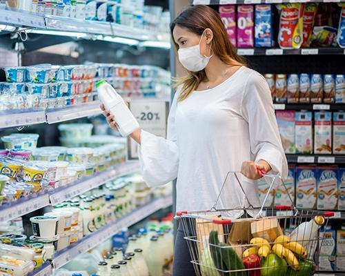 a customer shopping during COVID-19 pandemic