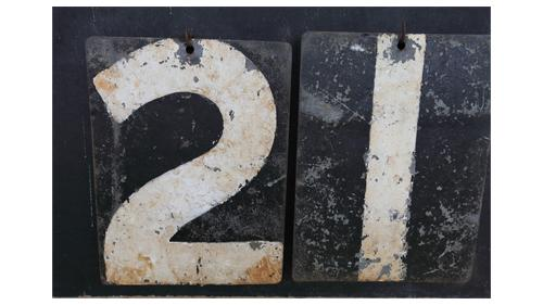 Twenty-one sign