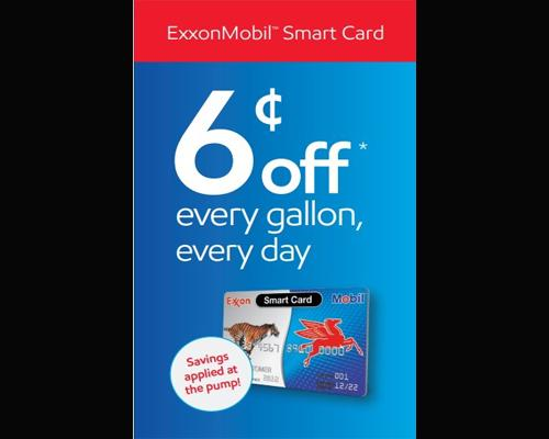 ExxonMobil 6 cents discount for Smart Card