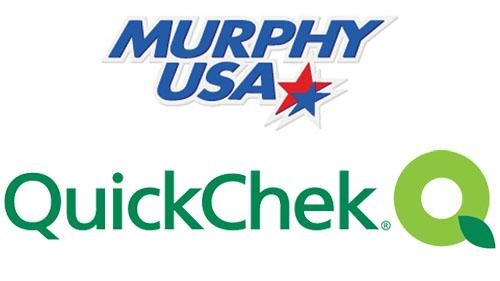Logos for Murphy USA and QuickChek
