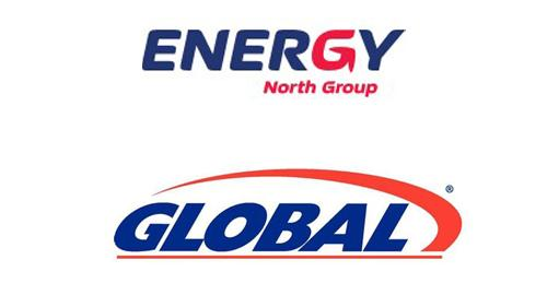 Logos for Energy North Group and Global Partners