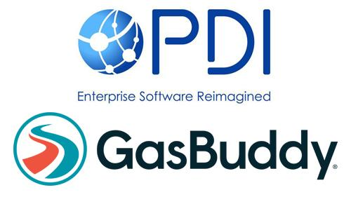 Logos for PDI and GasBuddy