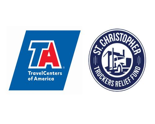 TravelCenters of America and St. Christopher Truckers Relief Fund logos