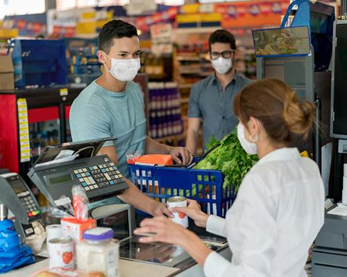 Masked c-store shoppers