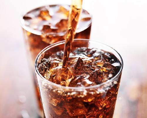 Soft drinks stock image
