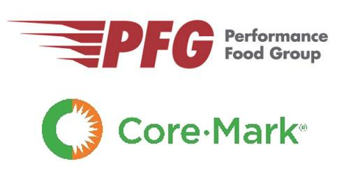 Logos for  Performance Food Group and Core-Mark Holdings Inc.