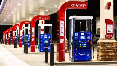 Exxon Synergy gas pumps