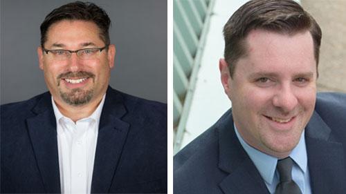 StrasGlobal welcomed Derek Abitz, left, and Steve Morris to the company.