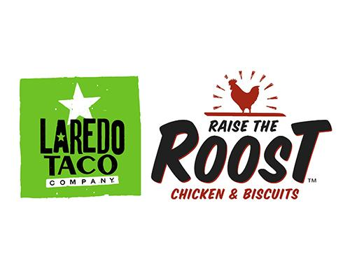 Laredo Taco & Raise the Roost logos