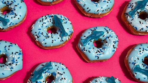 Sheetz Shark Week donut