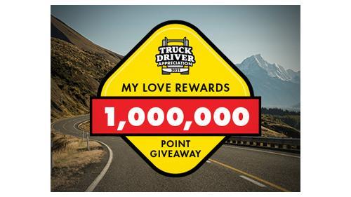 Love's Travel Stops driver appreciation promo