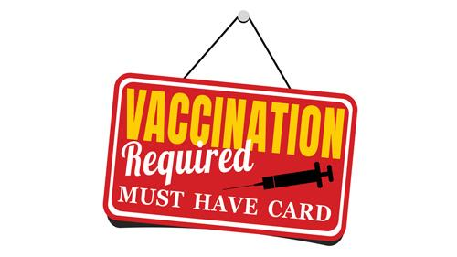 Vaccination required sign