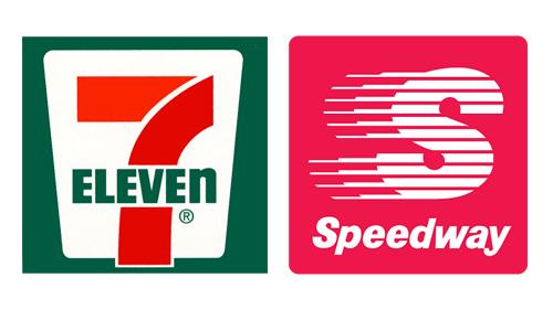 Logos for 7-Eleven and Speedway
