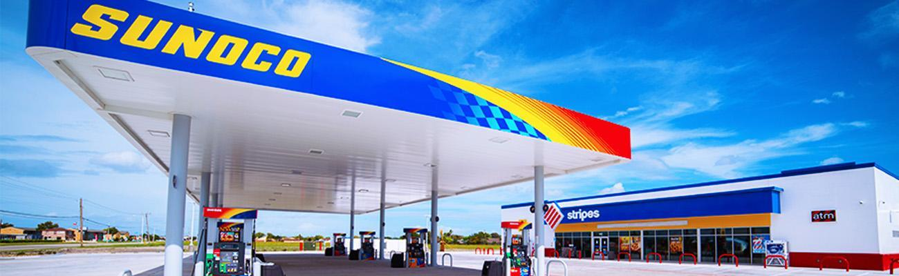 Sunoco/Stripes exterior