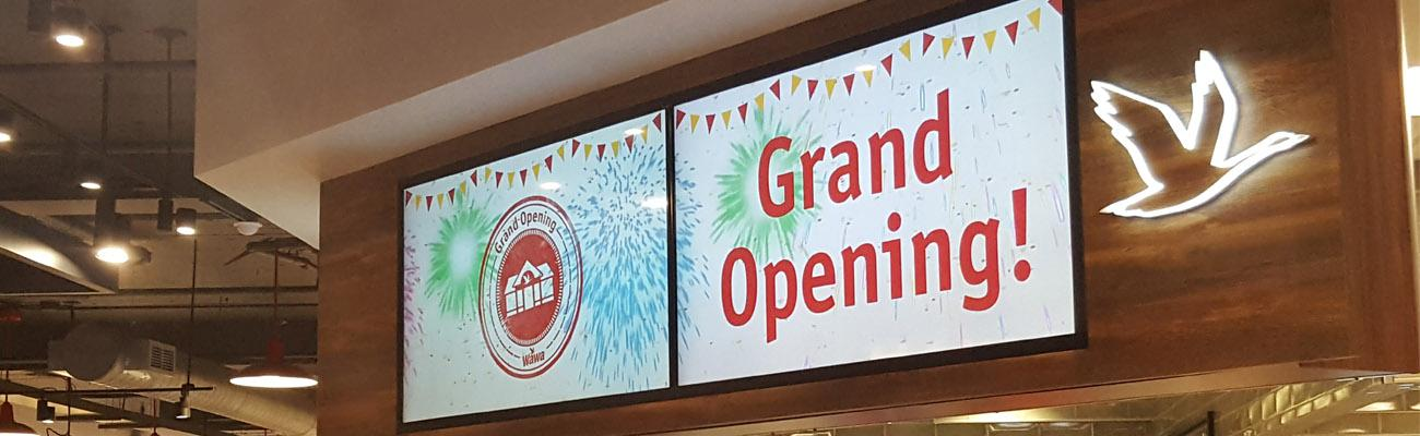Grand Opening sign at Wawa's first DC store
