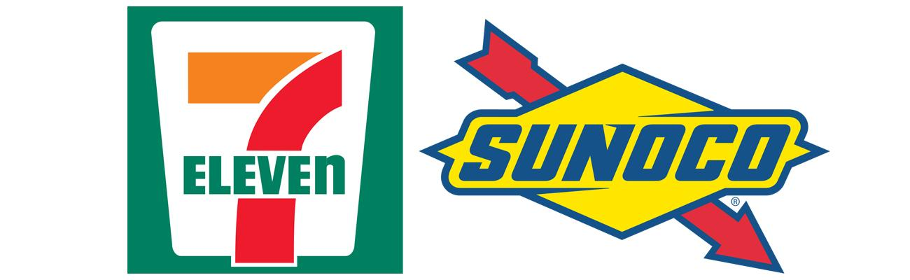 Logos for 7-Eleven and Sunoco