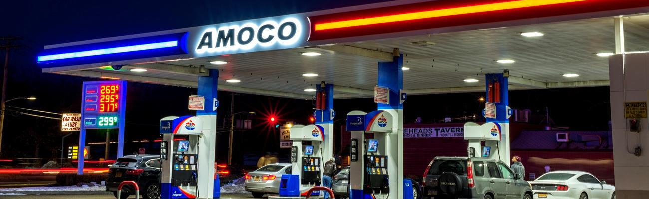 Amoco gas station in Pelham Manor, N.Y.