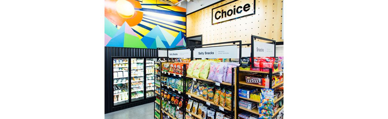 Choice Market cooler & shelves