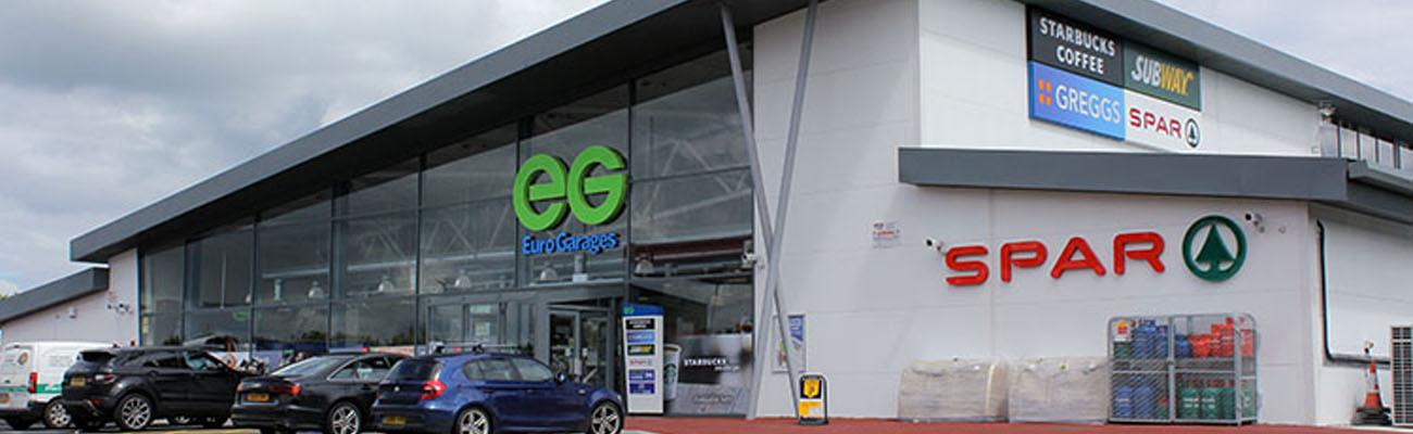 The exterior of a Euro Garages location