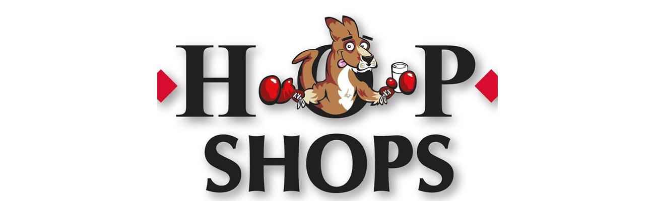 The logo for HOP Shops