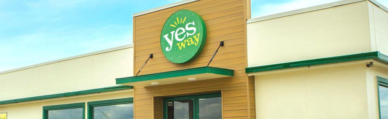 Yesway exterior banner
