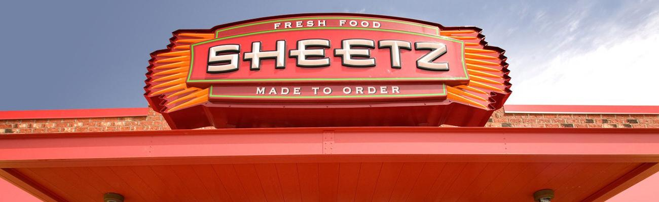 The exterior sign of a Sheetz convenience store