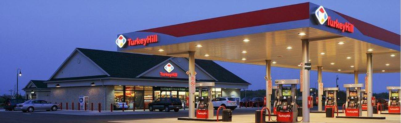 The exterior of a Turkey Hill convenience store