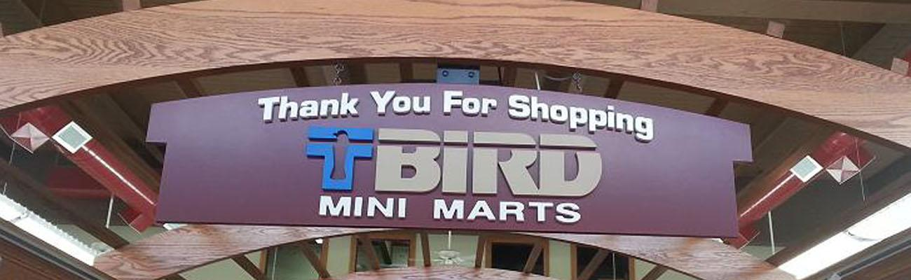 T-Bird Mini Marts Sign