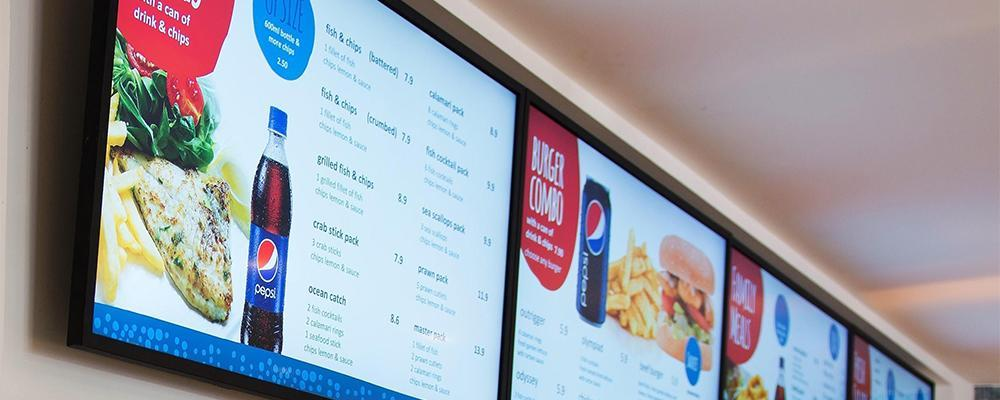 Foodservice menu board