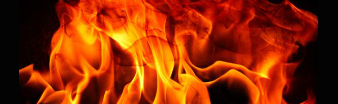 bright orange flames