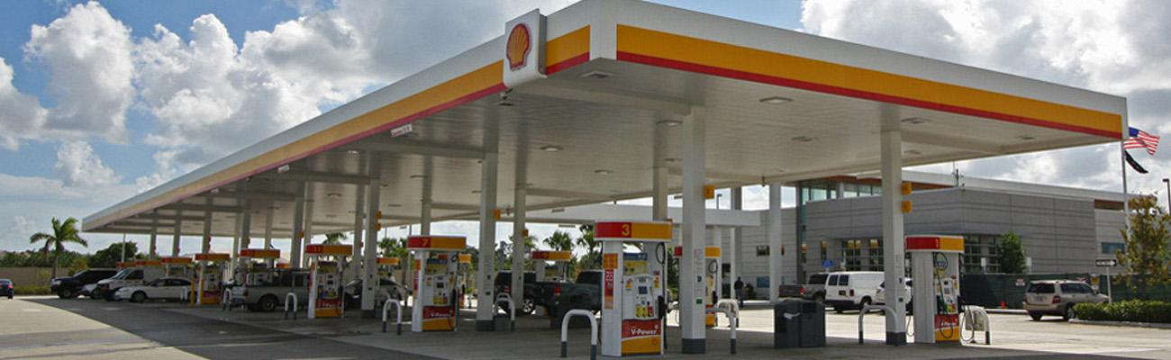 A Shell gas station