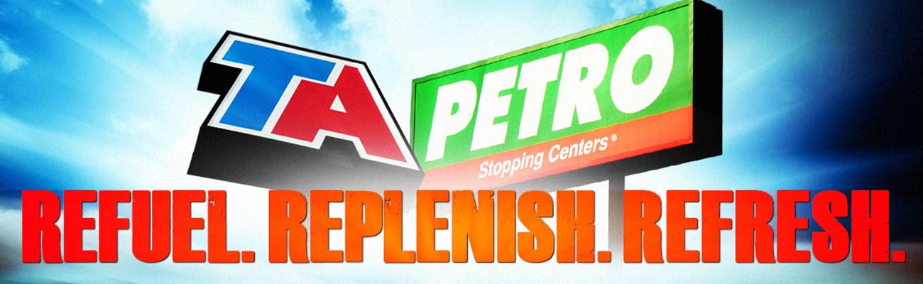 logos for TA and Petro travel centers
