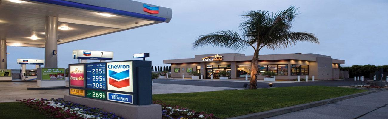 Chevron and ExtraMile convenience store