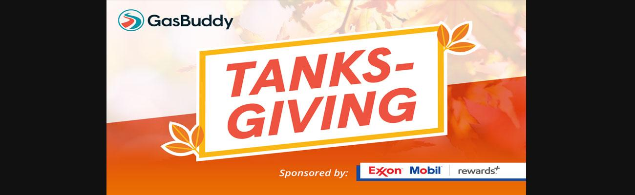 GasBuddy Tanksgiving promo 2018