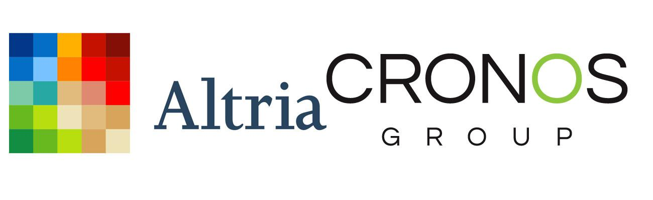 Logos for Altria Group and Cronos Group
