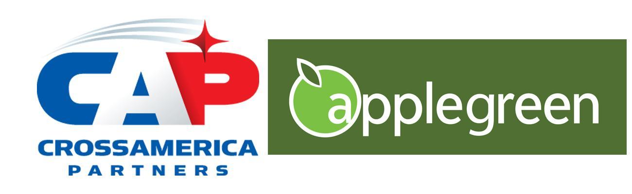 Logos for CrossAmerica and Applegreen