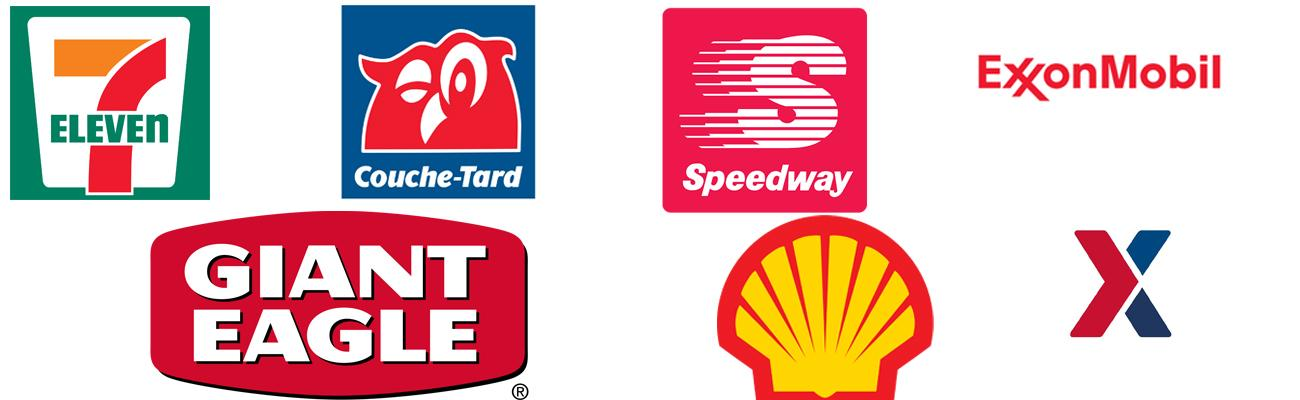 Logos for top convenience store chains