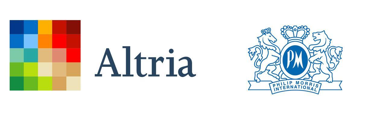 Altria Group and Philip Morris International Logos